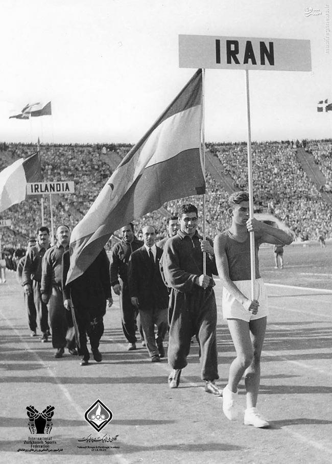 عکس/ وقتی تختی پرچمدار المپیکی ایران بود
