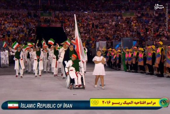 تصاویر/ رژه ورزشکاران ایرانی در افتتاحیه المپیک
