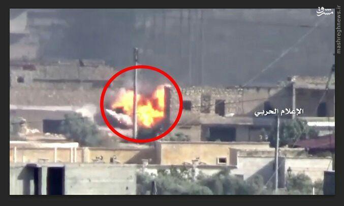 شکار تروریستها با موشک ضد زره حزب الله+فیلم و عکس