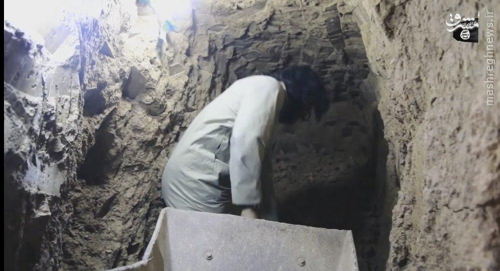 نهضت تونل سازی داعش در موصل+عکس