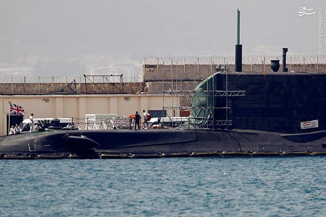 عکس/ زیردریایی اتمی انگلیس بعد از تصادف
