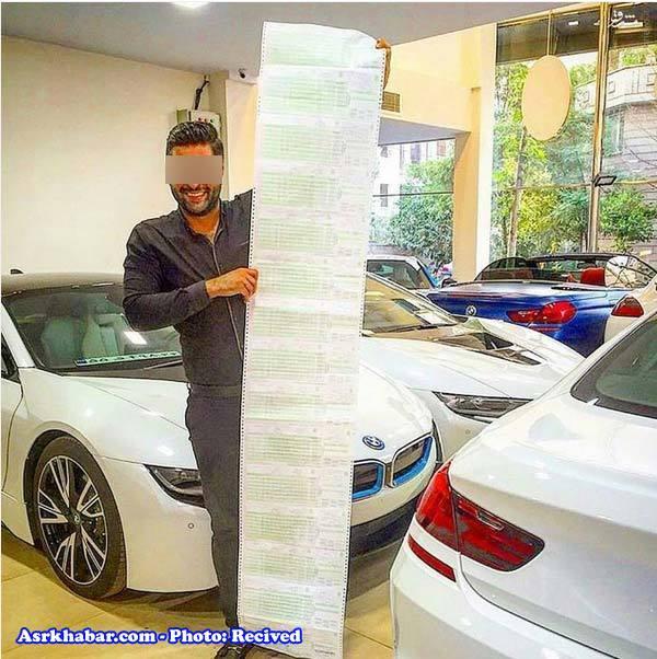 عکس/خنده بچه پولدار تهرانی به لیست بلند خلافهای رانندگیاش