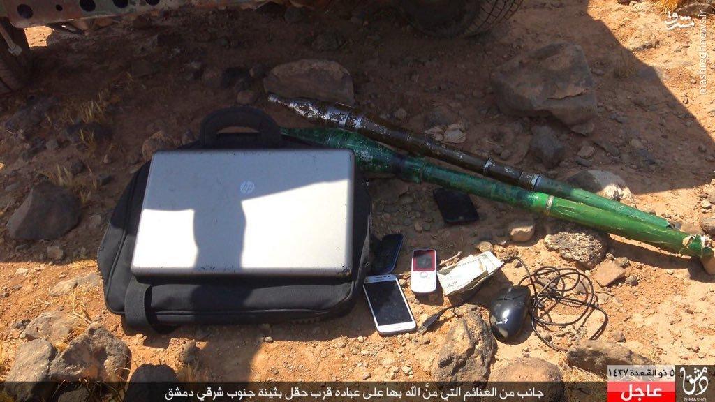 کمین داعش علیه ارتش سوریه در حاشیه دشمق+عکس