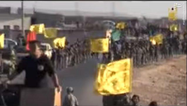 هزاران رزمنده عراقی به حلب رسیدند+عکس و فیلم