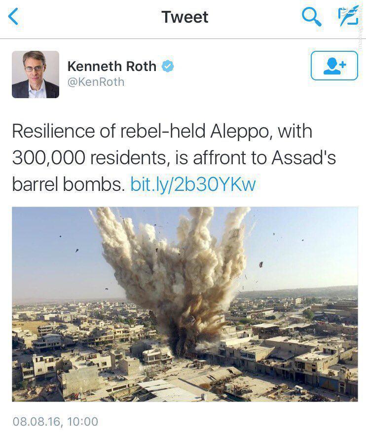 سوتی رسانه ای دیده بان حقوق بشر در حلب+عکس