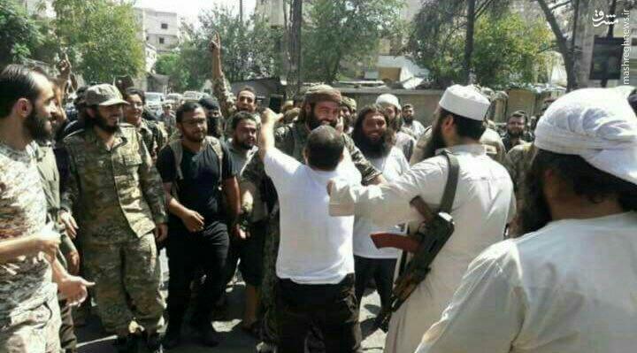 مفتی سعودی القاعده در محلات محاصره شده حلب+عکس