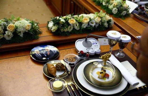 عکس/ میز پذیرایی اردوغان برای پوتین