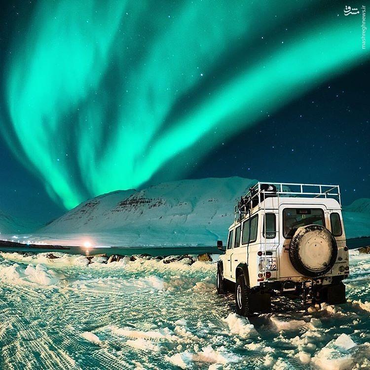 عکس/ نمای زیبا از شفق قطبی