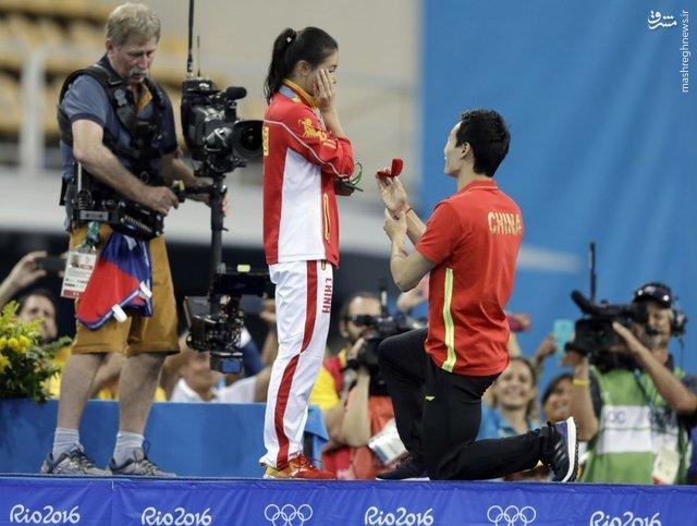خواستگاری روی سکوی مدال المپیک +عکس