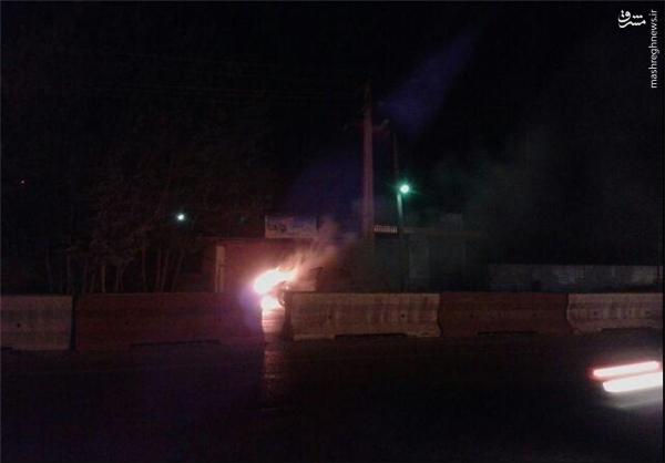 آتشسوزی مگان پلیسراه در ساری +تصاویر