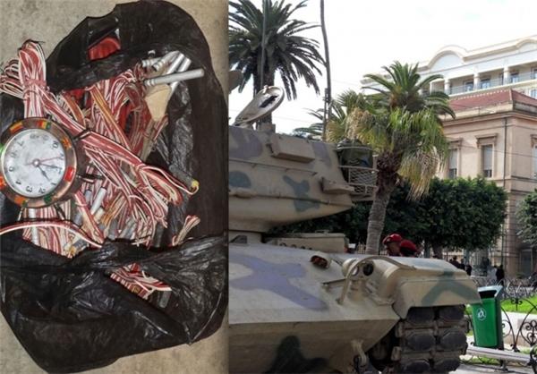 کشف بسته انفجاری نزدیک سفارت فرانسه در تونس +عکس