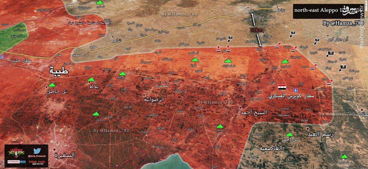 هجوم داعش به شرق حلب/حمله کردها به ارتش سوریه در حسکه/عملیات ارتش سوریه برای بازپس گیری غرب حلب/عملیات معکوس تروریستها در غوطه شرقی دمشق/سیطره ارتش آزاد بر الراعی حلب/در حال ویرایش