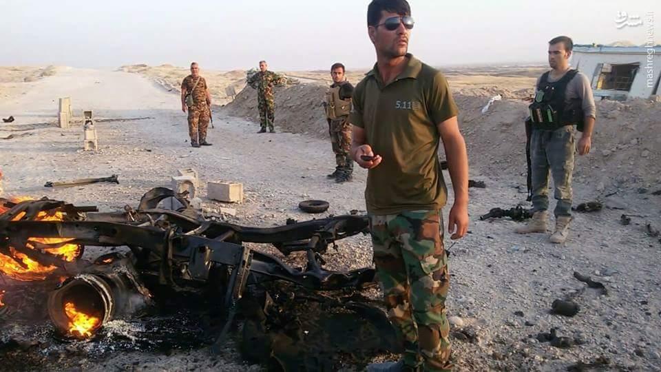 فداکاری نظامی عراقی مانع انتحاری داعش شد+عکس