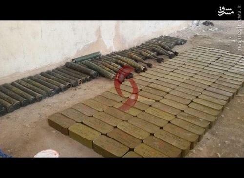 انهدام کاروان تسلیحاتی تروریستها در حماه+عکس و فیلم