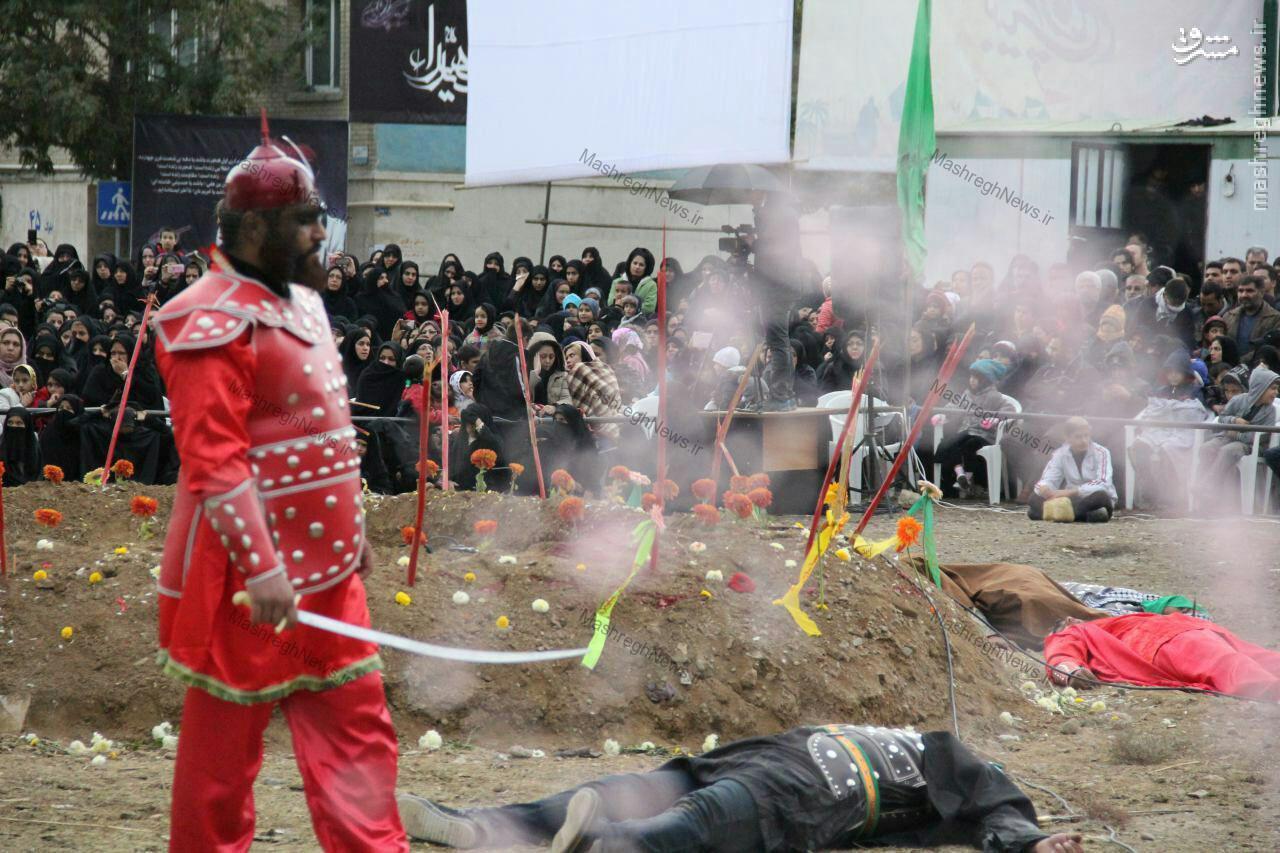 عکس/ مخالفخوانی یک مدافع حرم