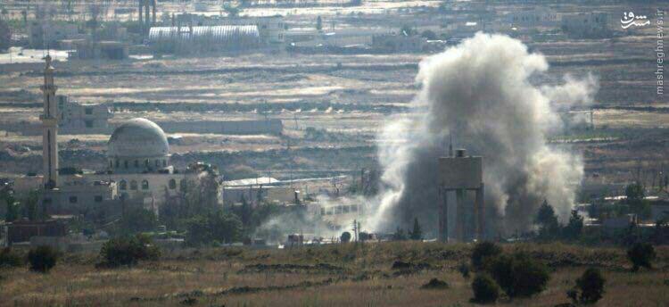 حمله هوایی اسراییل به قنیطره سوریه+عکس