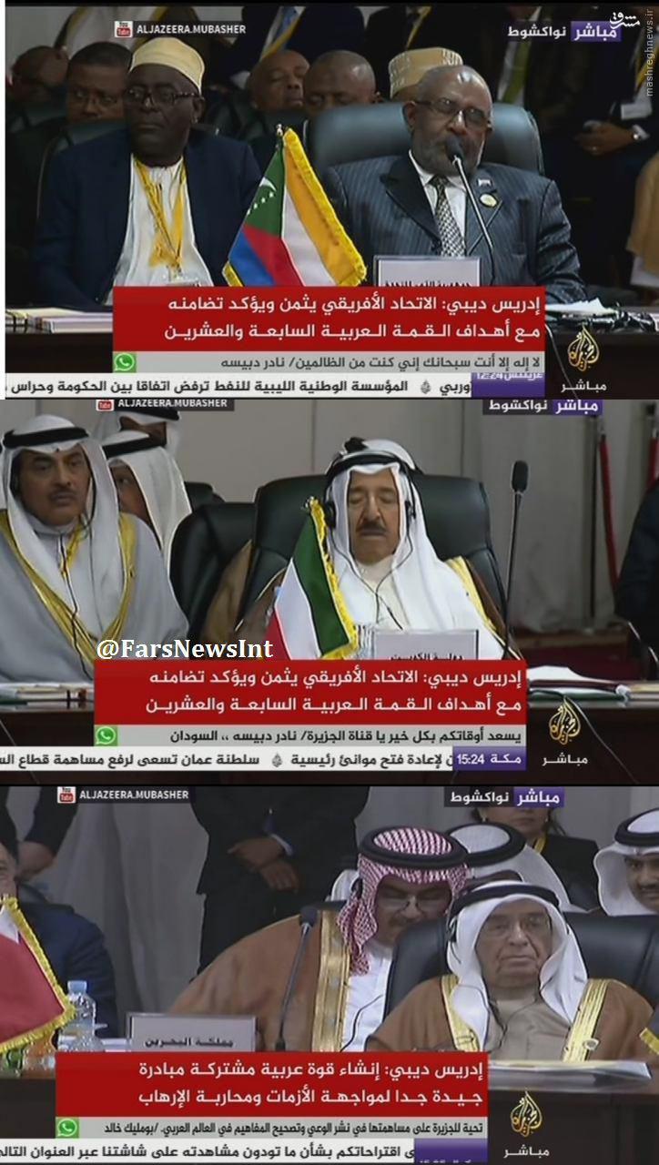 عکس/ خواب عمیق سران عرب در نشست اتحادیه عرب