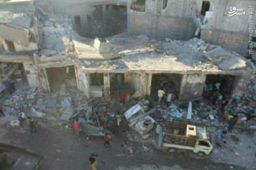 بمباران شدید شمال حلب توسط ارتش سوریه+عکس