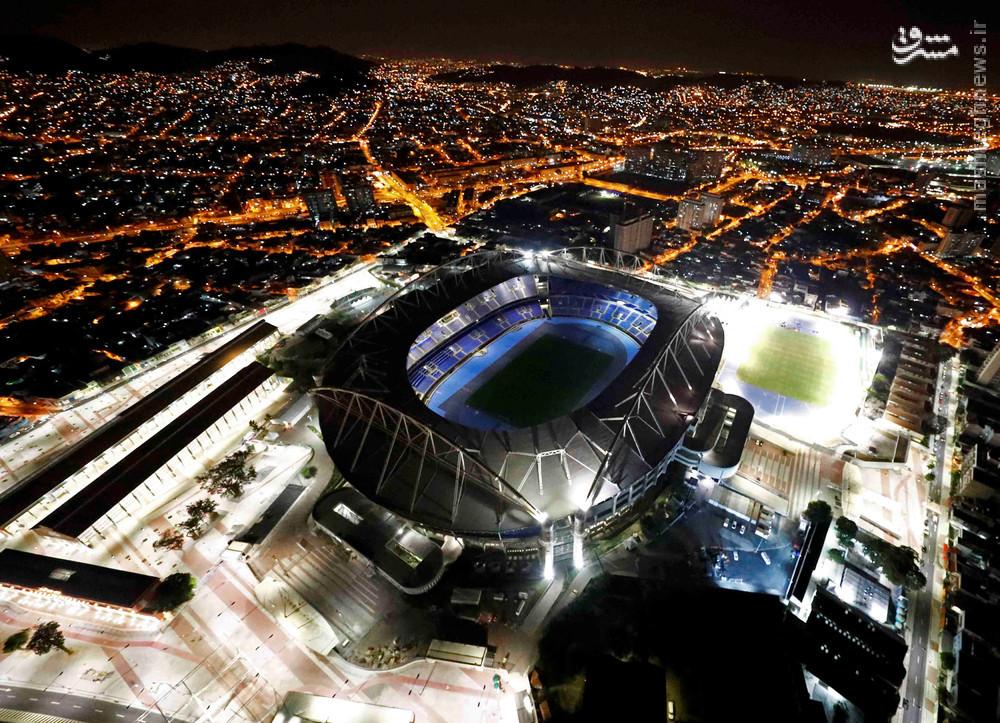 عکس/ نمایی زیبا از محل برگزاری مراسم افتتاحیه المپیک
