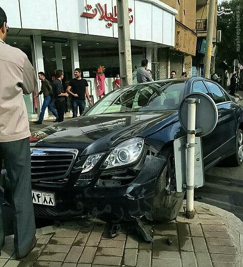 حوادث قزوین تصادف خودرو لوکس تصادف خودرو گرانقیمت تصادف پیکان تصادف بنز اخبار قزوین