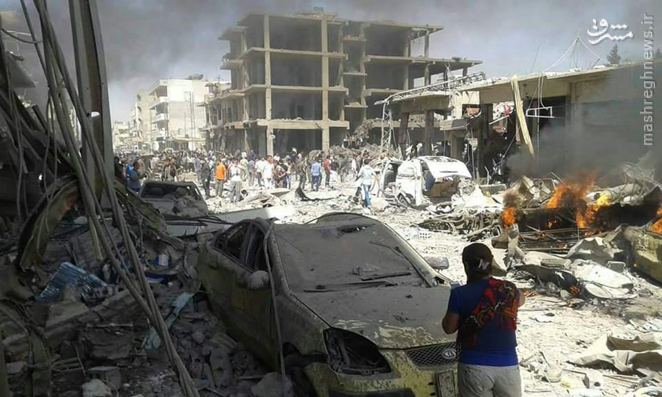 انفجار خودروی بمبگذاری در حسکه سوریه+عکس