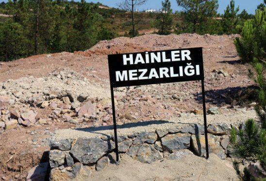 عکس/ دفن کودتاگران ترکیه در «گورستان خائنان»