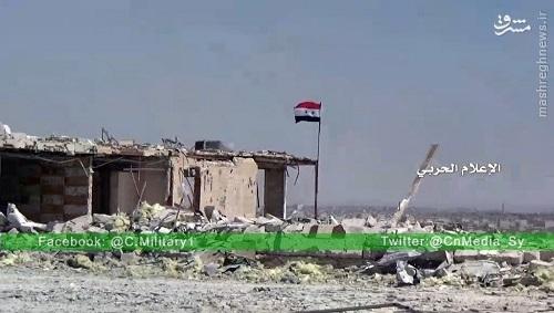 برافراشته شدن پرچم سوریه در جاده کاستلو+عکس