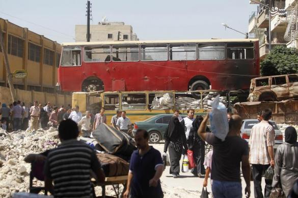 اعلام معبر انسانی برای خروج غیرنظامیان از شرق حلب+عکس