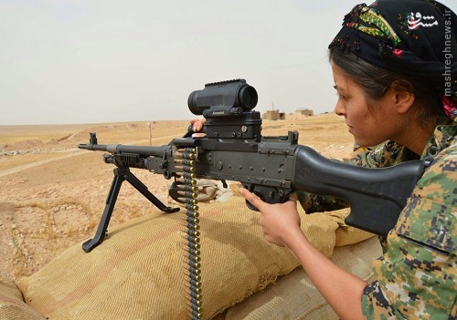 شبه نظامیان کرد سوری در لباس ارتش آمریکا+عکس