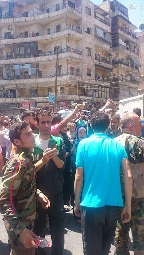 شادی و جشن در خیابان های حلب+عکس