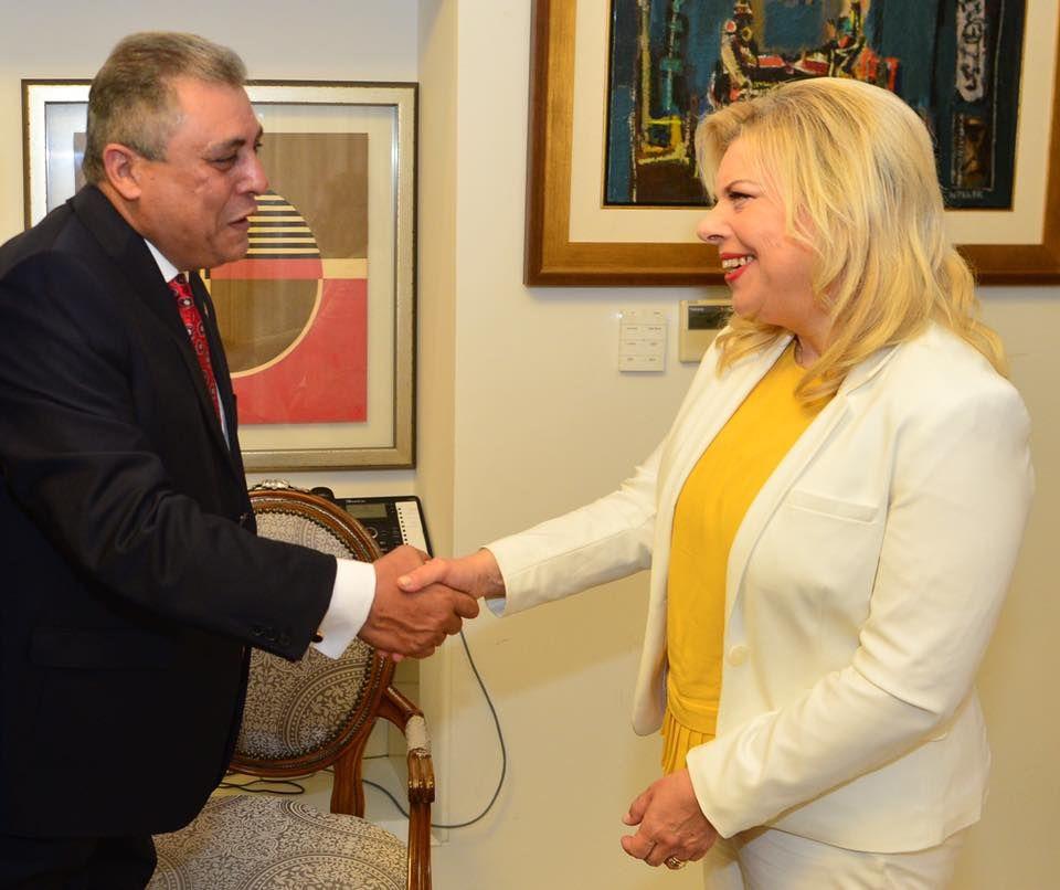 عکس/ بنیامین و سارا نتانیاهو در منزل سفیر مصر