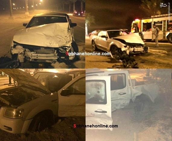 عکس/ تصادف شدید موستانگ و فورد در کیش