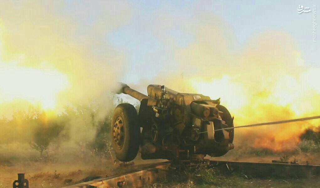 نبردهای شدید در تل المحروقات حلب+فیلم و عکس