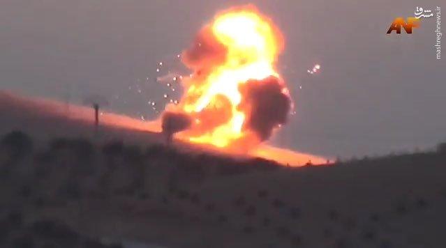 انهدام دو دستگاه تانک ارتش ترکیه توسط کردها+عکس