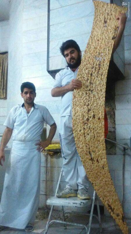 عکس/ بزرگترین نان سنگک دنیا