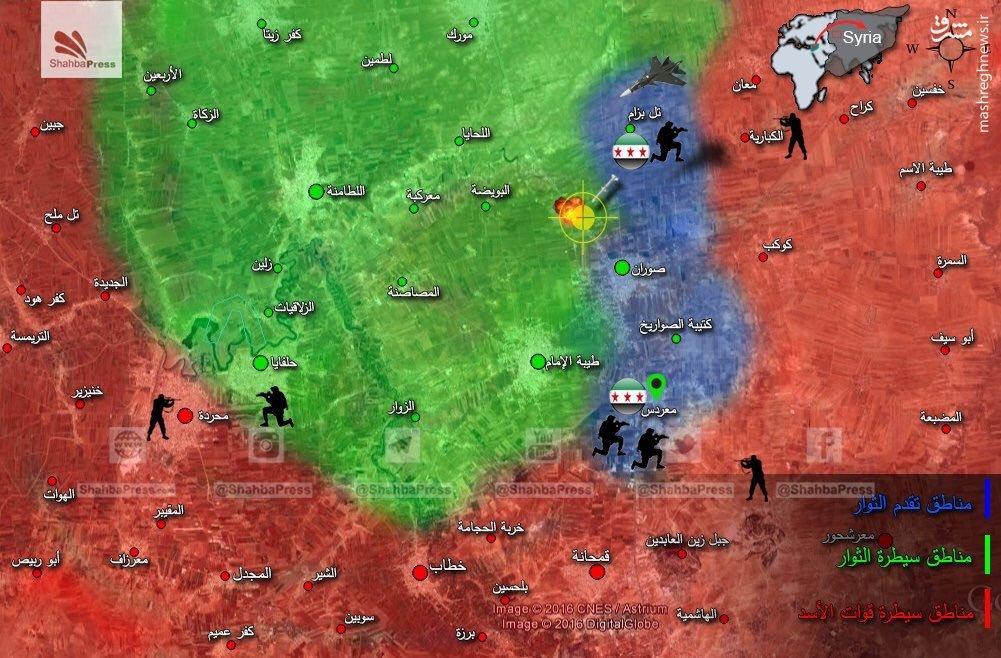 تک و پاتک ارتش سوریه و تروریستها در شمال حماه/شکست هجوم جیش الفتح به شمال حلب/ترکیه آتش بس با اکراد را رد کرد/شکست هجوم تروریستها در غوطه دمشق