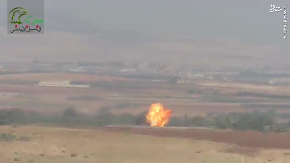 انهدام بالگرد ارتش سوریه با موشک تاو+عکس و فیلم