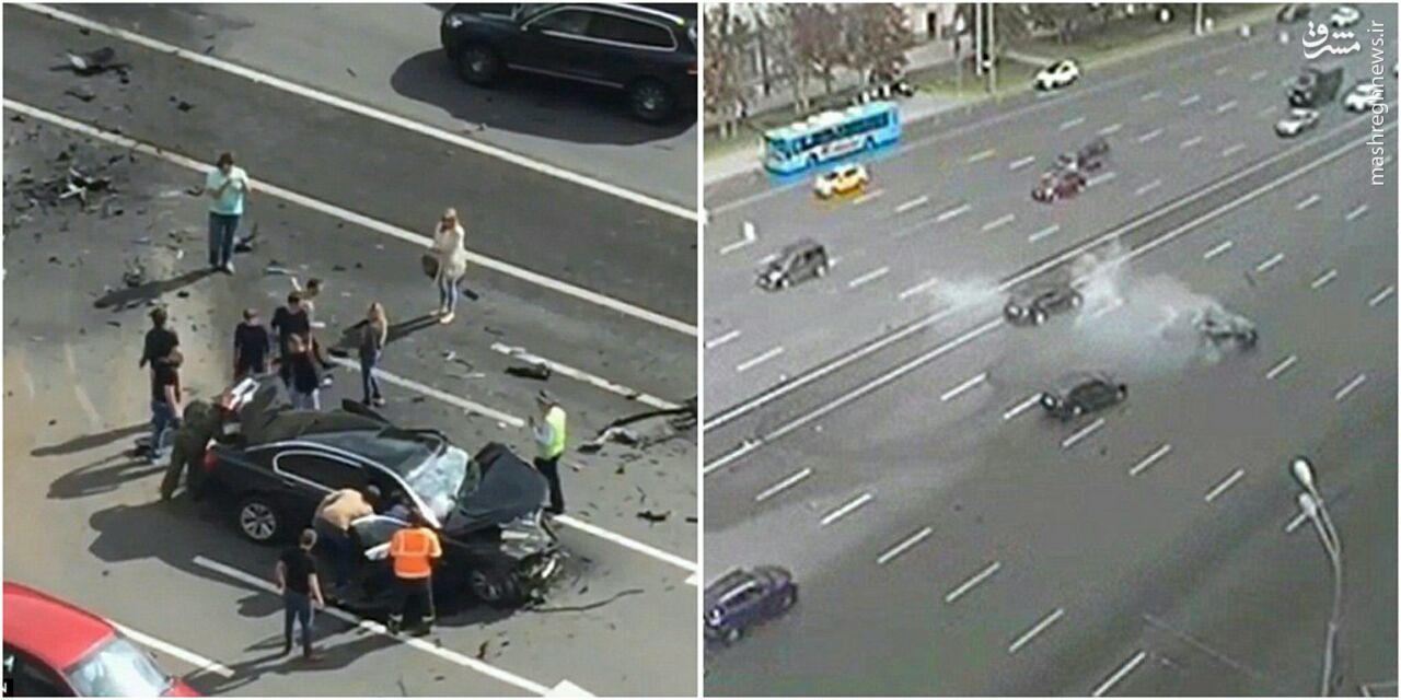 عکس/ تصادف شدید خودروی پوتین