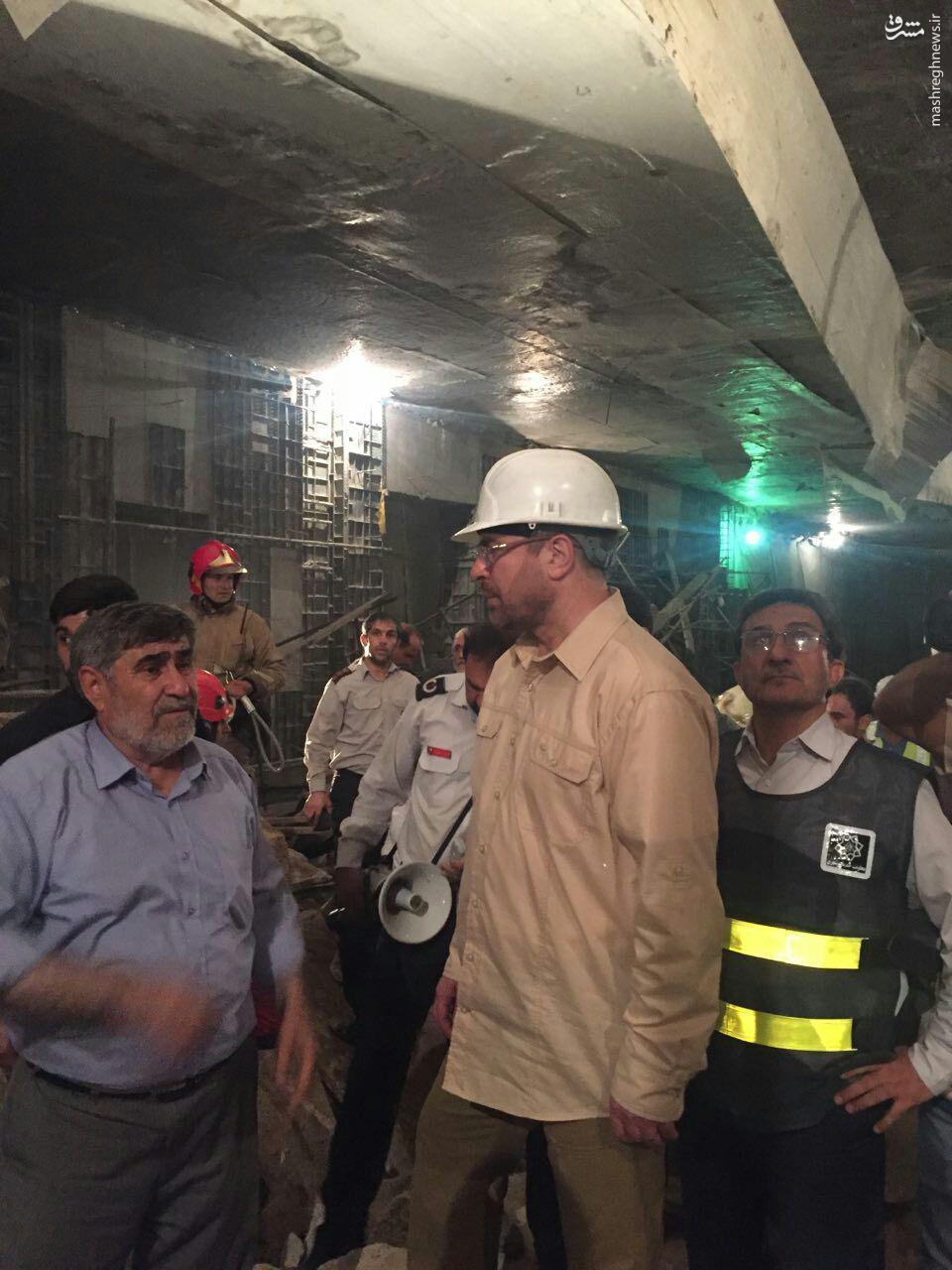 قالیباف در محل حادثه حاضر شد/ تأیید مرگ 4 نفر/ علت حادثه مشخص شد +عکس