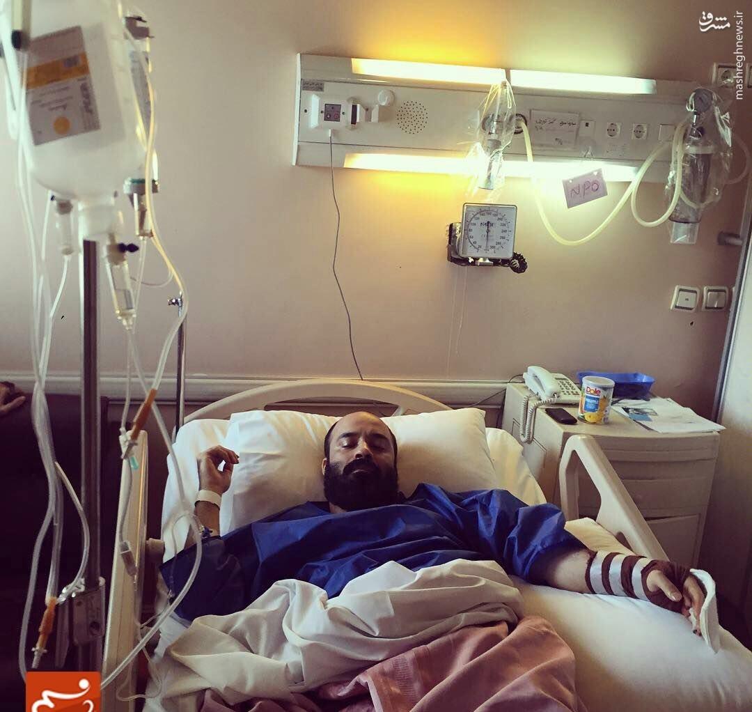عکس/ عبدالرضا هلالی راهی بیمارستان شد