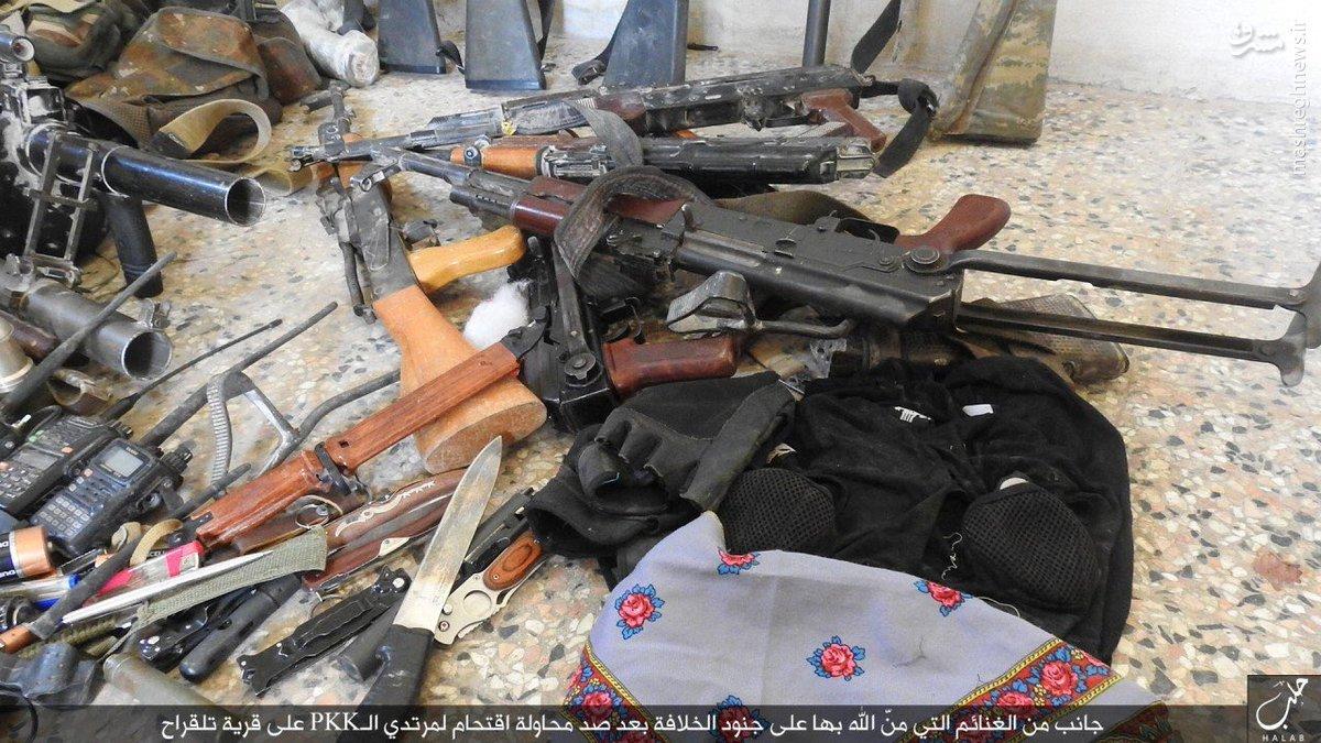 غنائم داعش از کردها در تل قراح حلب+عکس