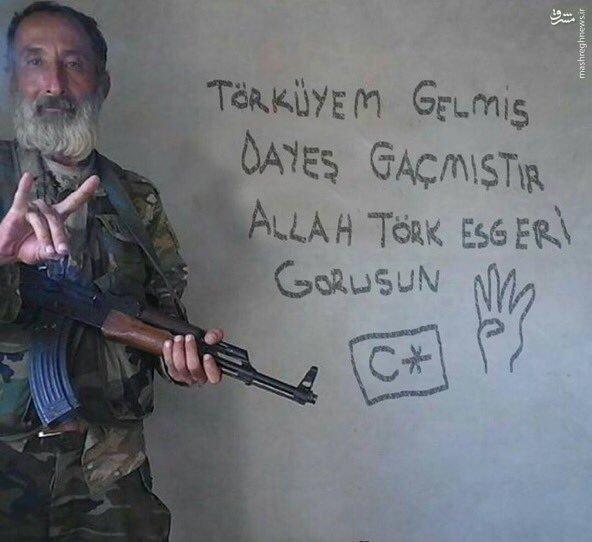 حضور گرگهای خاکستری ترکیه در جرابلس سوریه!+عکس