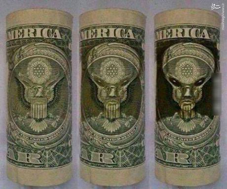عکس/ تصویر واقعی روی دلار