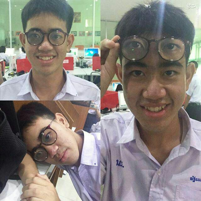 عکس/ عینک مخصوص خواب در کلاس