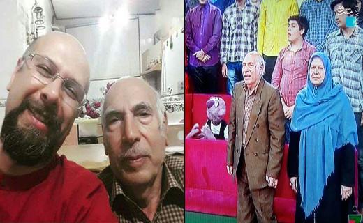 حضور پدر و مادر جناب خان در برنامه خندوانه