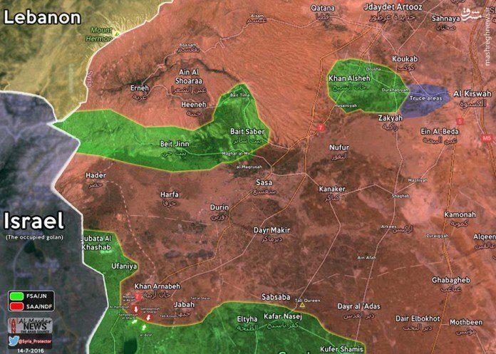 گسترش حمایت اسرائیل از القاعده و ارتش آزاد در جنوب سوریه