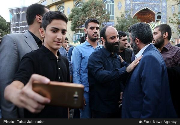 عکس/ هلالی در ختم والده منصور ارضی