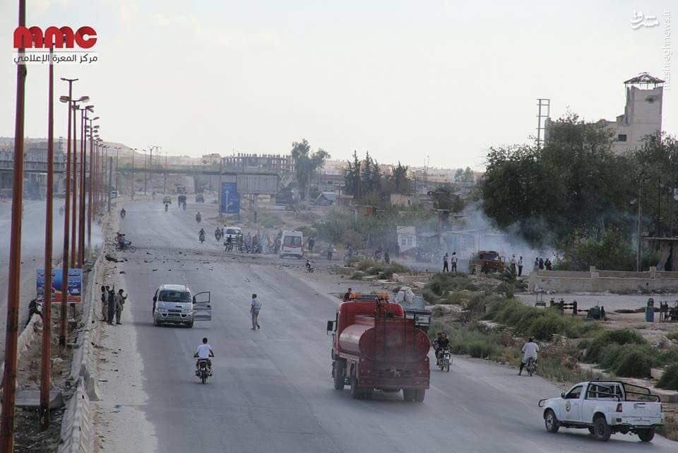 انفجار خودروی بمبگذاری شده در ادلب+عکس
