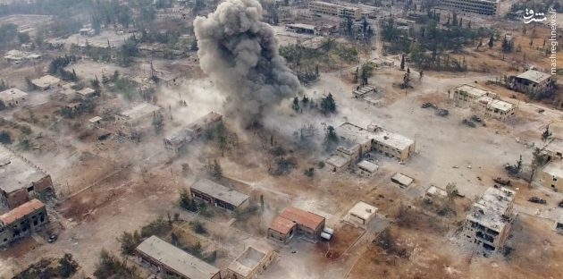 گلوله باران شیمیایی شمال حلب توسط داعش