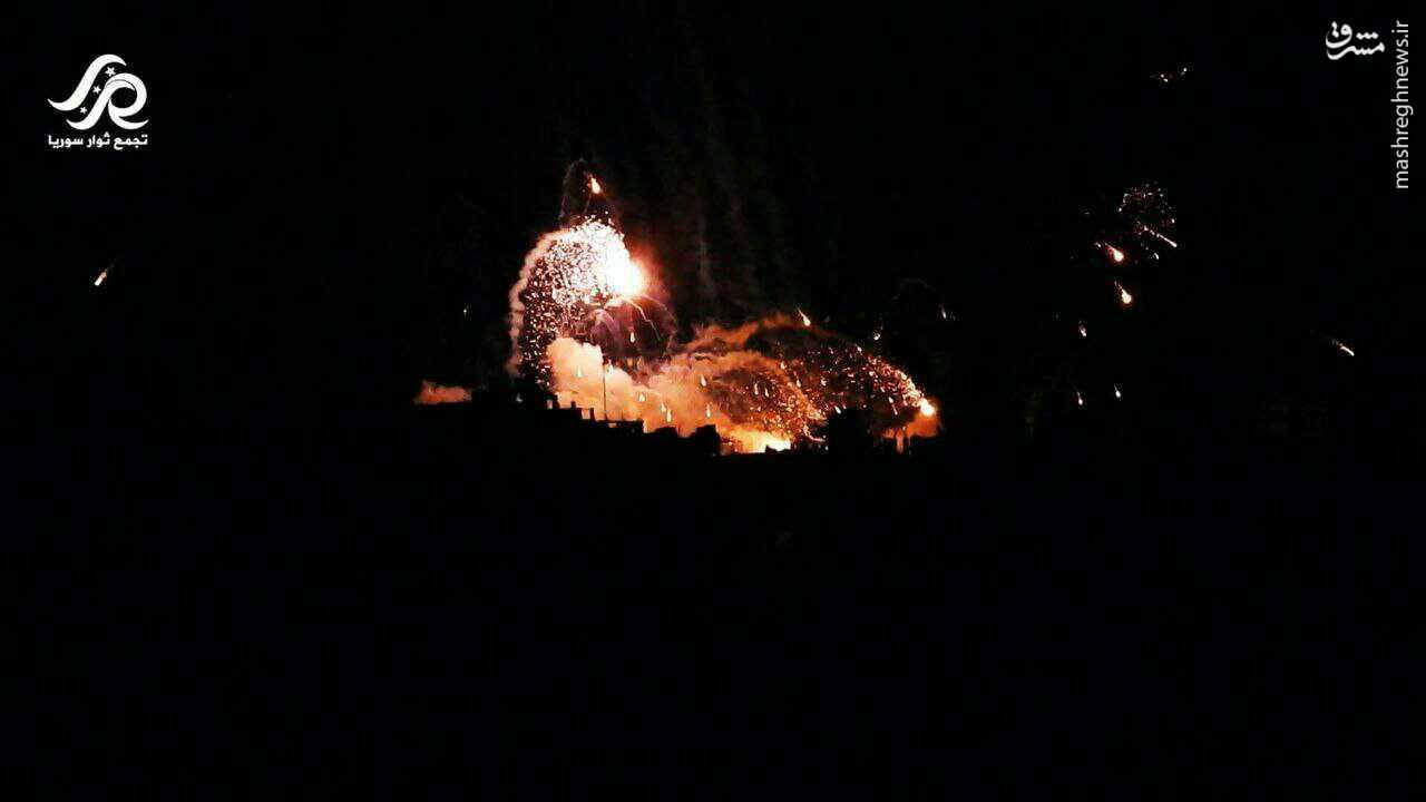 انهدام مراکز القاعده در شمال حمص+عکس